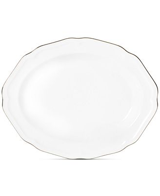 Mikasa Antique White Platinum Oval Platter