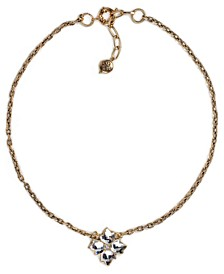 "Gold-Tone Crystal Floret Pendant Necklace, 18"" + 2"" extender"