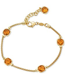 Amethyst Station Link Bracelet (4 ct. t.w.) in 14k Rose Gold-Plated Sterling Silver (Also in Citrine)