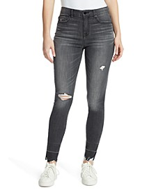 Destructed High-Rise Skinny Jeans