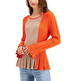 Colorblocked Peplum Sweater