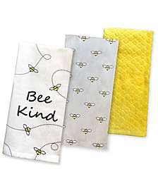 Bee Kitchen Towels, Set of 3, Created for Macy's
