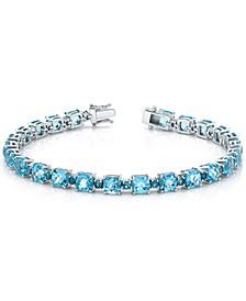 Blue Topaz Link Bracelet (20-3/4 ct. t.w.) in Sterling Silver