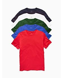 Men's Crew Neck Undershirt, Pack of 5