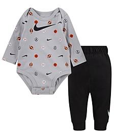 Baby Boys Sportsball Bodysuit Pant Set