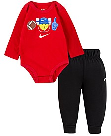 Baby Boys Emoji Bodysuit Pant Set