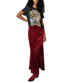 Free People Noa Velvet Slip Skirt