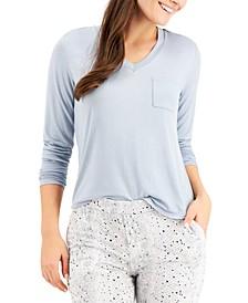 Long-Sleeve Pocket Pajama T-Shirt, Created for Macy's