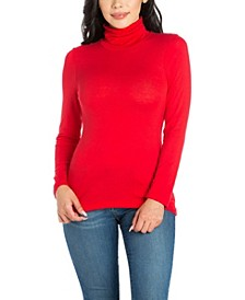 Women's Plus Classic Long Sleeve Turtleneck Top