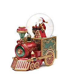 Musical Santa on Train Glitterdome
