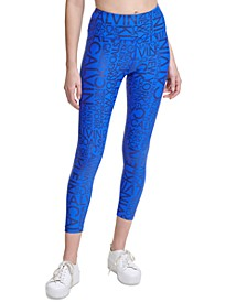 Metallic-Print High-Waist Leggings