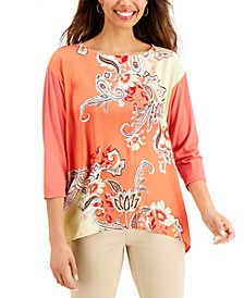 Petite Nadia Printed Tunic, Created for Macy's