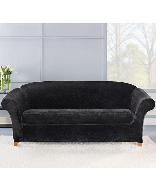 Stretch Plush 2-Piece Sofa Slipcover