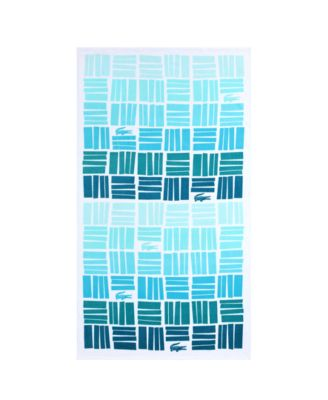 Cotton Gradient Geometric Beach Towel