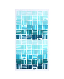 Cotton Gradient Geometric Beach Towel