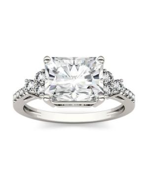 Moissanite Radiant Cut Engagement Ring 2-9/10 ct. t.w. Diamond Equivalent in 14k White Gold
