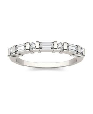 Moissanite Baguette Wedding Band 1/2 ct. t.w. Diamond Equivalent in 14k White Gold