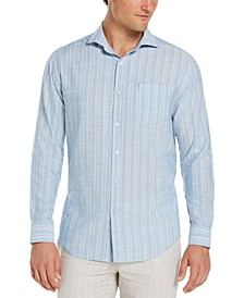 Men's Textured Stripe Dobby Shirt