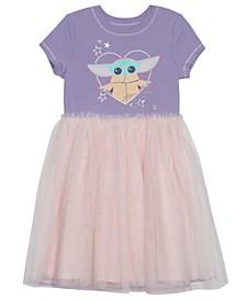 Toddler Girls Child Heart Dress with Mesh Skirt