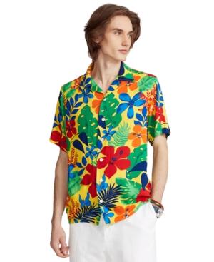 80s Men's Shirts, T-shirts, Retro Shirts Polo Ralph Lauren Mens Tropical Camp Shirt $148.00 AT vintagedancer.com