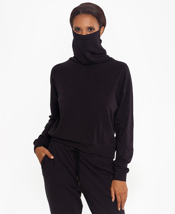 BAM by Betsy & Adam - Crewneck Sweater with Built-In Mask, Created for Macy's