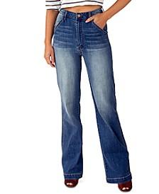 Juniors' High-Rise Wide-Leg Jeans