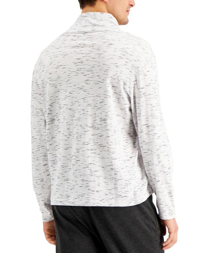 INC International Concepts INC Men's Regular-Fit Textured Cowl-Neck Sweatshirt , Created for Macy's  & Reviews - Hoodies & Sweatshirts - Men - Macy's