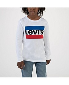 Boys Long Sleeve Logo T-shirt