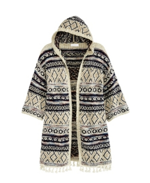 Women's Novelty Poncho Cardigan with Hoodie