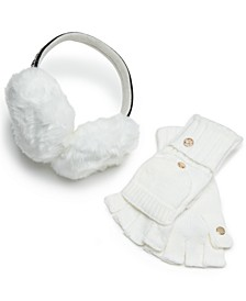 2-Pc. Faux Fur Earmuffs & Flip-Top Gloves Set