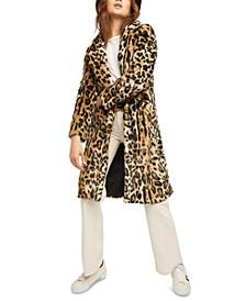 Chloe Leopard Faux-Fur Duster