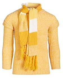 Girls Ruffle Sweater & Matching Scarf