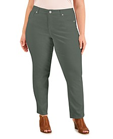 Plus Size High-Rise Straight Jeans, Created for Macy's
