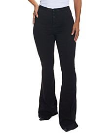 Juniors' Curvy-Fit Flare Jeans