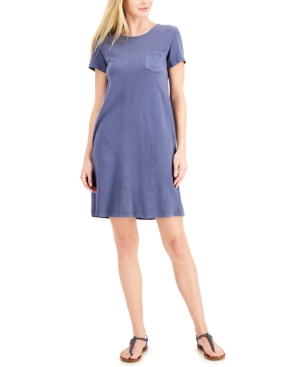Style & Co Dresses ONE-POCKET T-SHIRT DRESS, CREATED FOR MACY'S