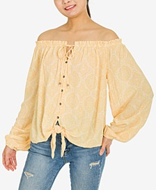Juniors' Off-The-Shoulder Top
