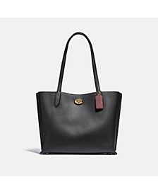 Polished Pebble Leather Willow Tote