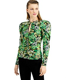 INC Ruched Keyhole Top, Created for Macy's
