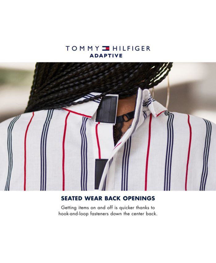 Tommy Hilfiger Men's Seated Twain Checked Shirt with Velcro® Back Closure & Reviews - Casual Button-Down Shirts - Men - Macy's