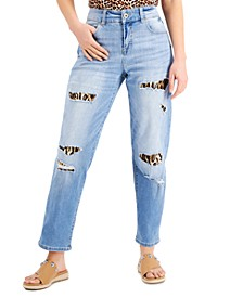 Petite Ripped Repaired Jeans, Created for Macy's