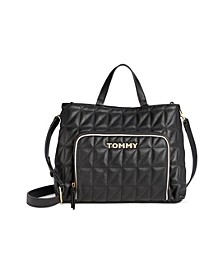 Emma Quilted PVC Tote Created for Macy's
