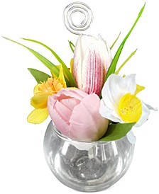 Artificial Tulip Daffodil Place Card Holder, Created for Macy's