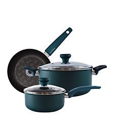 5-Piece Non-Stick Aluminum Cookware Set