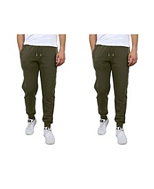 Men's Classic Fleece Jogger Sweatpants with Zipper Pockets, Pack of 2