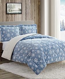 Snowflake 3-Pc King Comforter Set
