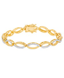 Diamond Accent Infinity Bracelet in Gold-Plate