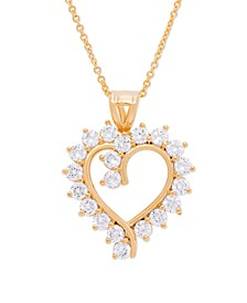 Gold Plated Cubic Zirconia Heart Pendant