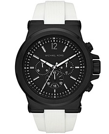 Men's Dylan Chronograph White Silicone Strap Watch 48mm