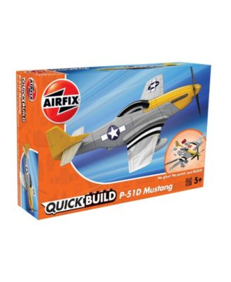 Airfix Quickbuild P-51D Mustang Airplane Brick Building Plastic Model Kit - J6016
