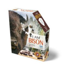 Madd Capp Games - I Am Bison - 300 Pieces - Animal Shaped Jigsaw Puzzle